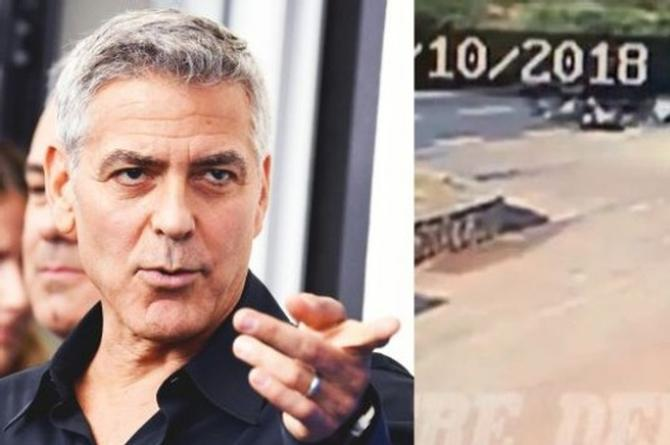 Hay video del accidente en moto de George Clooney (+VIDEO)