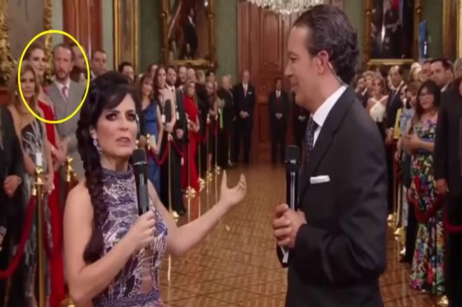 Pleitazo entre Chantal Andere y su esposo en plena transmisión de la ceremonia del grito (+VIDEO)