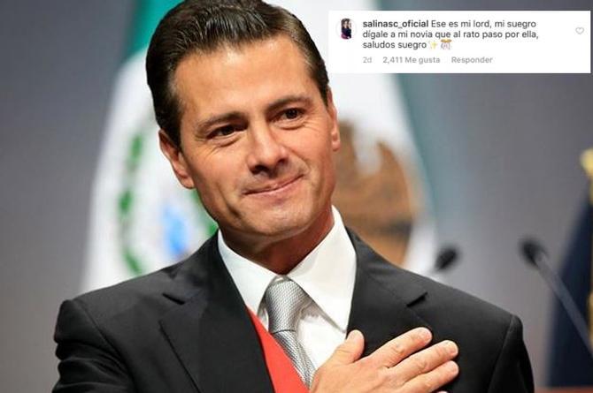 Peña Nieto responde a usuario que lo llama 'suegro' (+FOTOS)
