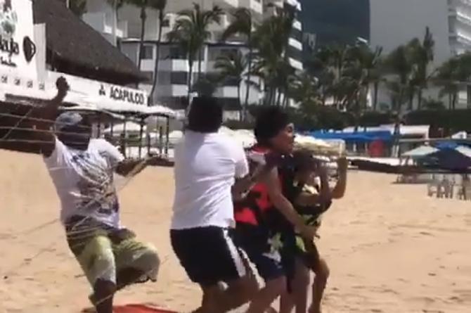 Verónica Castro y su nieta son arrastradas por un paracaídas (+VIDEO)