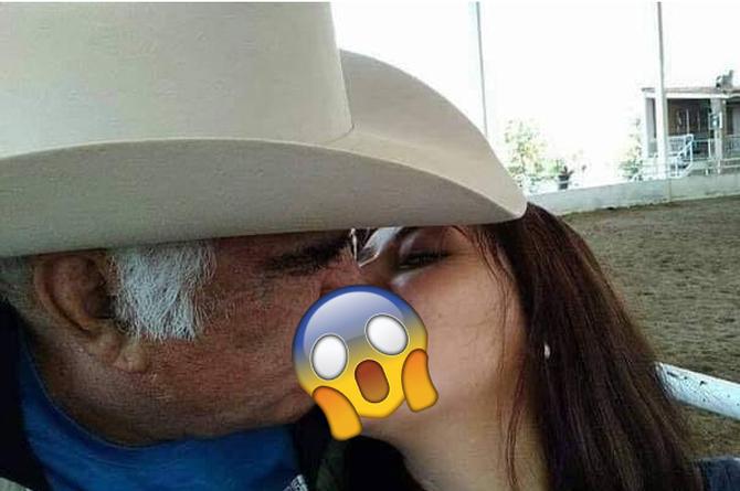 Viralizan fotografías de Vicente Fernández besando en la boca a una jovencita (+FOTOS)