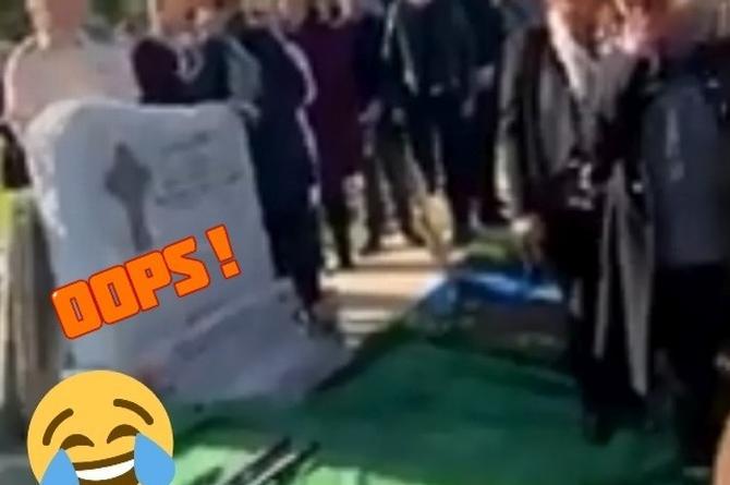 Carnal 'revive' en su funeral para broma #VIDEO
