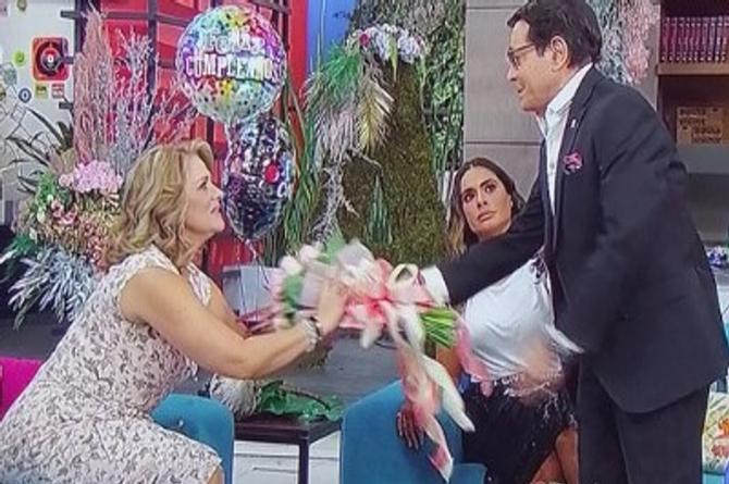 Origel se disculpa con Erika Buenfil... Ya son amigos otra vez (+video)