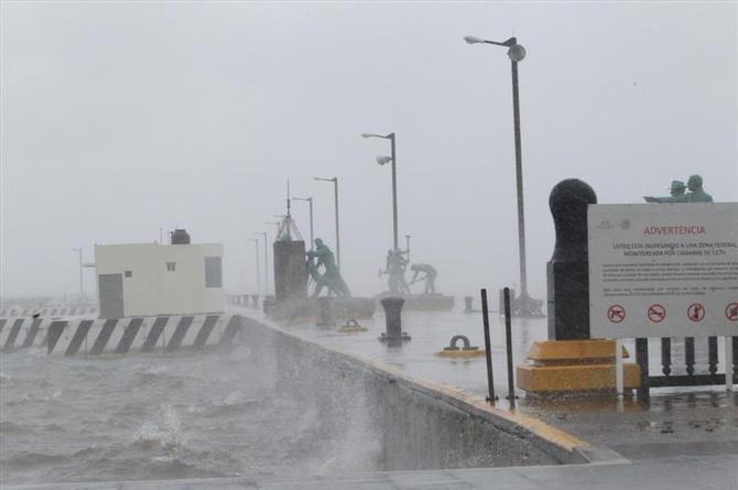 Hoy martes habrá en Veracruz lluvias y norte con rachas muy fuertes