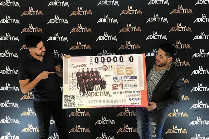 La Adictiva aparece en un boleto de la Lotería Nacional (+video)