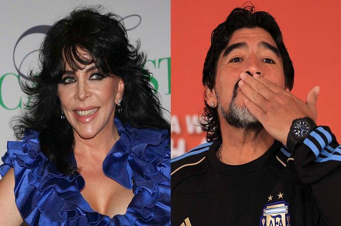 Así se las ingenió Maradona para conocer a su amor platónico: Verónica Castro