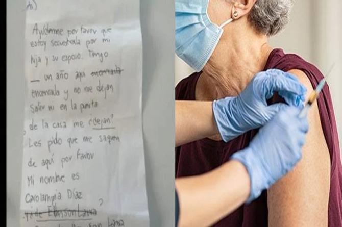 Abuelita que entregó nota de auxilio al ser vacunada no sufría malos tratos