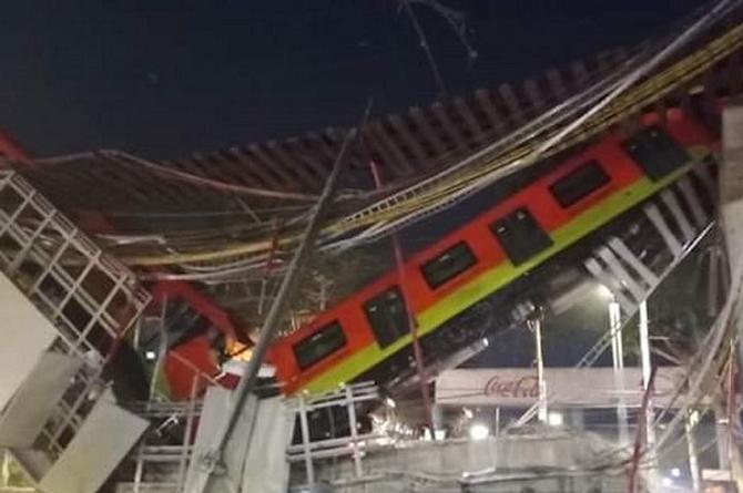 Impresionante video del desplome del Metro de la CDMX