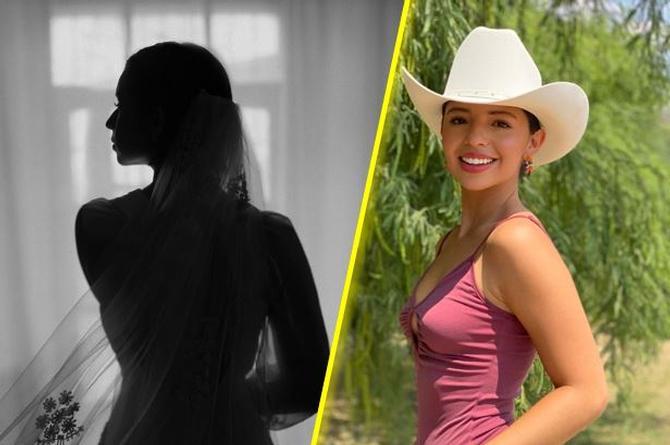 Ángela Aguilar se viste de novia para estrenar 'Ahí donde me ven' (+video)
