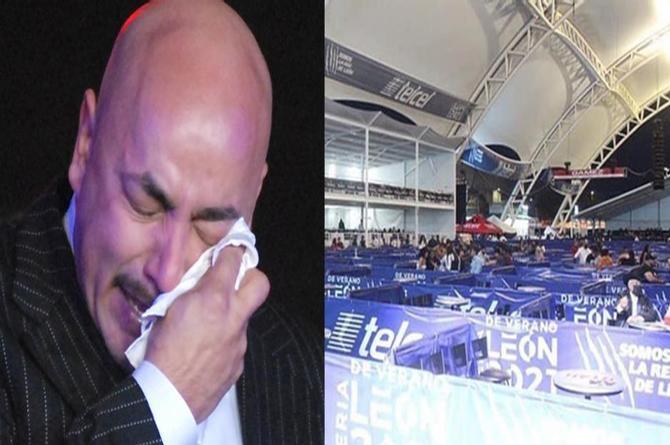 Rotundo fracaso el concierto de Lupillo Rivera en León Guanajuato
