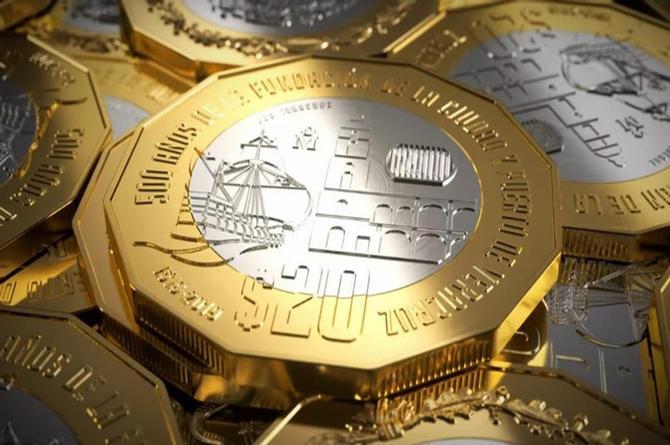 ¿Sabes que la moneda de 20 pesos de la fundación de Veracruz vale 27 mil en Internet?